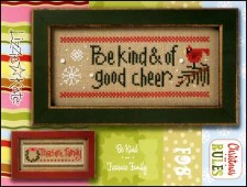 Christmas Rules Double Flip - BE KIND/TREASURE FAMILY Cross Stitch Chart with Embellishments from Lizzie Kate