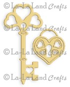 HEART KEY AND LOCK DIE from La La Land Crafts