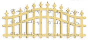 **REORDER** WROUGHT IRON FENCE DIE from La La Land Crafts