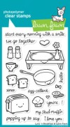 LOVE 'N BREAKFAST Clear Stamp Set from Lawn Fawn