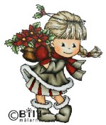 **PREORDER** CHRISTMAS FLOWER Rubber Stamp Little Winged Friends Collection from Bildmalarna