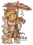 **PREORDER** UMBRELLA Rubber Stamp Little Winged Friends Collection from Bildmalarna
