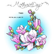 MAGNOLIA FOR MUM Rubber Stamp Set from Make It Crafty