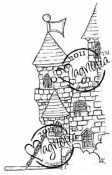 EDWIN'S KNIGHT CASTLE Rubber Stamp Princes & Princesses Collection from Magnolia