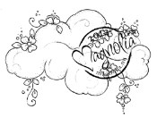 FLOWER CLOUD Rubber Stamp With Love Collection from Magnolia