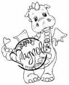 LILLYROSE THE DRAGON Rubber Stamp Princes & Princesses Collection from Magnolia