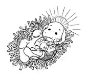 LITTLE HOLY BABY Rubber Stamp Nativity Collection from Magnolia