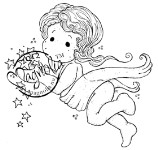 TILDA CAPTURES STARS Rubber Stamp Nativity Collection from Magnolia
