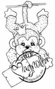 SALLY THE MONKEY Rubber Stamp Princes & Princesses Collection from Magnolia