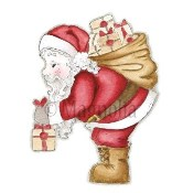 SANTA Rubber Stamp Santa Collection from Magnolia