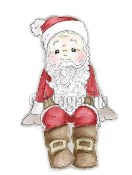 SITTING SANTA Rubber Stamp Santa Collection from Magnolia