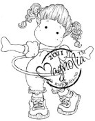 ROCKING TILDA Rubber Stamp Sweet Rainbow Collection from Magnolia