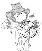 SCARECROW TILDA Rubber Stamp Sweet Rainbow Collection from Magnolia