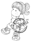 TILDA WITH PONYTAIL Rubber Stamp Sweet Rainbow Collection from Magnolia