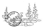 STONE PATH Rubber Stamp Butterfly Dreams Collection from Magnolia