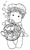 TILDA IN BATHCAP Rubber Stamp Princes & Princesses Collection from Magnolia