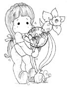 TILDA DECORATE EASTER Rubber Stamp Little Easter Collection from Magnolia