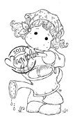 TILDA WATERING Rubber Stamp Little Easter Collection from Magnolia