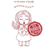 ANGEL SINGING CAROLS Rubber Stamp Set from Make It Crafty
