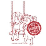GIRL'S SECRET SWING Rubber Stamp from Make It Crafty