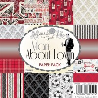 MAN ABOUT TOWN PAPER PACK 6x6 Scrapbook Patterned Paper from Wild Rose Studio