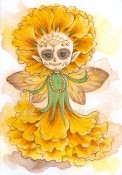 MARIGOLD SPRITE Rubber Stamp Aurora Wings Mitzi Sato-Wiuff Collection from Sweet Pea Stamps