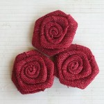 "Maya Road VINTAGE LINEN BURLAP ROSES BARN 2"" Pack of 3"