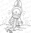 SNOW BUNNY Rubber Stamp Meljen's Designs Collection from Whimsy Stamps