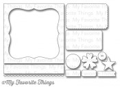 New! DIE-NAMICS BLUEPRINTS 19 DIE SET from My Favorite Things MFT Stamps