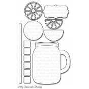 New! DIE-NAMICS MASON JAR MUG DIE SET from My Favorite Things MFT Stamps