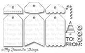 DIE-NAMICS TAG BUILDER BLUEPRINTS 2 Die Set from My Favorite Things MFT Stamps