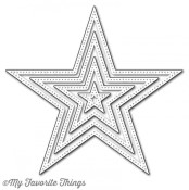 DIE-NAMICS PIERCED STAR STAX DIE SET from My Favorite Things MFT Stamps
