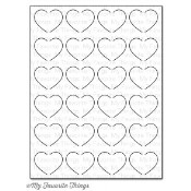 New! DIE-NAMICS FLUTTERING HEARTS COVER-UP DIE from My Favorite Things MFT Stamps
