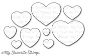 New! DIE-NAMICS ALL MY LOVE DIE SET from My Favorite Things MFT Stamps