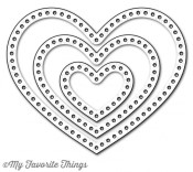 **PREORDER** New! DIE-NAMICS STITCHABLE HEART STAX DIE SET from My Favorite Things MFT Stamps