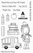 CLASS ACT Clear Stamp Set Birdie Brown Designs from My Favorite Things MFT Stamps