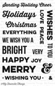 MERRY MESSAGES Clear Stamp Set Clearly Sentimental Collection from My Favorite Things MFT Stamps