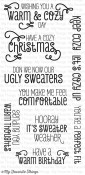 COZY GREETINGS Clear Stamp Set Clearly Sentimental Collection from My Favorite Things MFT Stamps