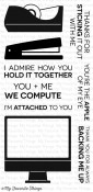 OFFICE SPACE Clear Stamp Set Die-Namics Companion Collection from My Favorite Things MFT Stamps