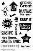PACKED WITH POSITIVITY Clear Stamp Set Die-Namics Companion Collection from My Favorite Things MFT Stamps