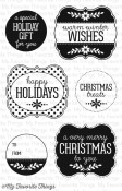 CHRISTMAS LABELS AND TAGS Clear Stamp Set Lisa Johnson Designs from My Favorite Things MFT Stamps