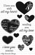 New! ALL MY LOVE Clear Stamp Set Lisa Johnson Designs from My Favorite Things MFT Stamps