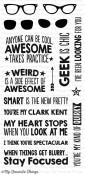 GEEK IS CHIC Clear Stamp Set Laina Lamb Designs from My Favorite Things MFT Stamps
