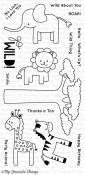 WILD THINGS Clear Stamp Set Miss Tiina Designs from My Favorite Things MFT Stamps