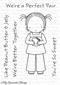 **REORDER** PEANUT BUTTER & JELLY Clear Stamp Set Pure Innocence Collection from My Favorite Things MFT Stamps