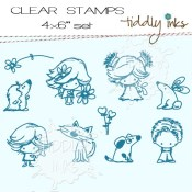MINI AND MANY FRIENDS  Clear Stamp Set from Tiddly Inks