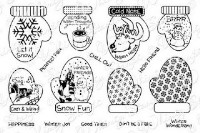 COZY HANDS SENTIMENTS Rubber Stamp Set from the Whimsy Stamps Sentiments Collection