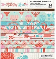 LUCKY IN LOVE 6x6 Scrapbook Patterned Paper Pack from My Mind's Eye