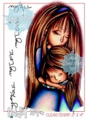 WRYN MOMMY AND ME Clear Stamp Set from Tiddly Inks