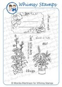 **Retired** HOME MADE Rubber Stamp Set Momas Stamp Designs from Whimsy Stamps
